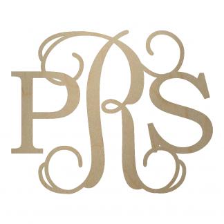 Diametric Wooden Monogram - pRs