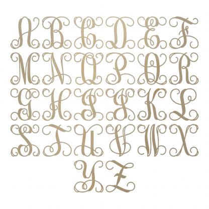 Wooden Monogram Letters
